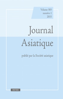 Journal Asiatique, Vol. 308, n° 2
